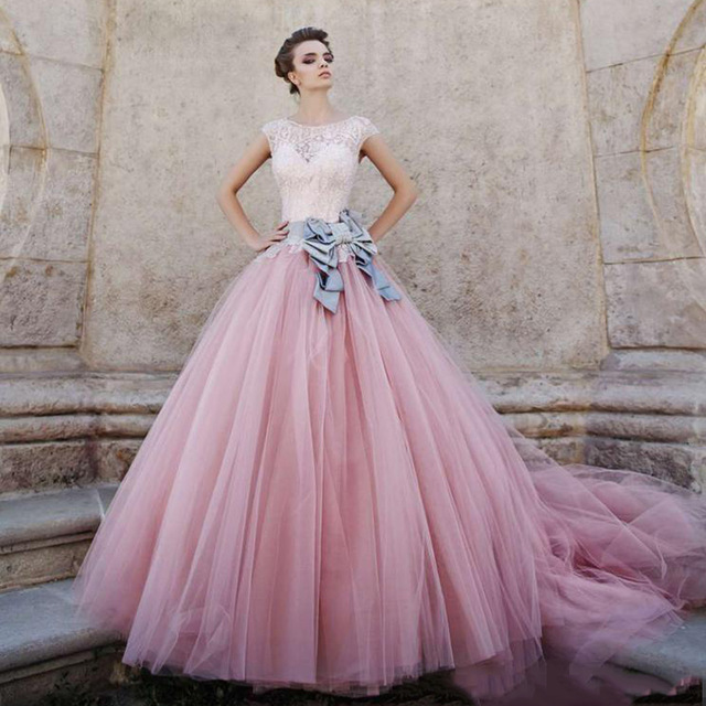 2016-princess-cinderella-evening-dresses-cap-sleeves-pink-peach-tulle-beading-long-vintage-prom-party-gowns-jpg_640x640