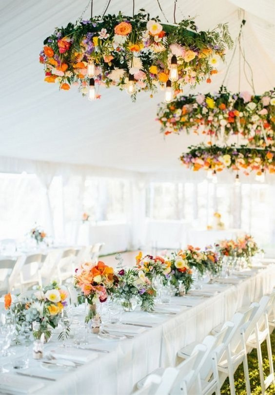 colorful-orange-wedding-chandeliers