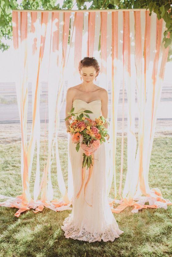 ombre-coral-wedding-backdrop
