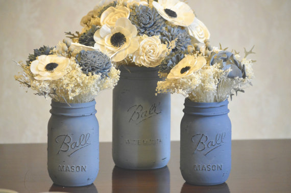 dusty-blue-mason-jars-and-flowers-www-etsy-comshopstelladesignsshop