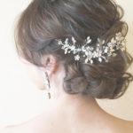 ヘアアクセサリーでお悩みの花嫁様必見♡小枝アクセサリーの可愛いヘア特集♡