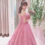 【ピンク好きな花嫁さま大必見♥】女性の永遠の憧れ**ピンクのカラードレス試着レポ❥︎:❥︎