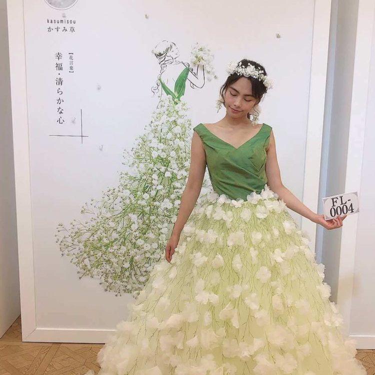 葉菜桜花子さんの花ドレスとクラウディアの夢のコラボ Flowery Fieldsを発表 Dressy ドレシー Byプラコレウェディング