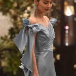 冬だからこそ着たい冬のブルーカラードレス♡凛とした洗練された花嫁姿に*