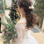 大人気の花嫁ヘア[ ポニーテールアレンジ ]でイマドキのおしゃれ花嫁さまに♡**