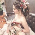 ナチュラルで愛らしく♡♡お花たっぷりの花嫁フラワーヘアをご紹介♡